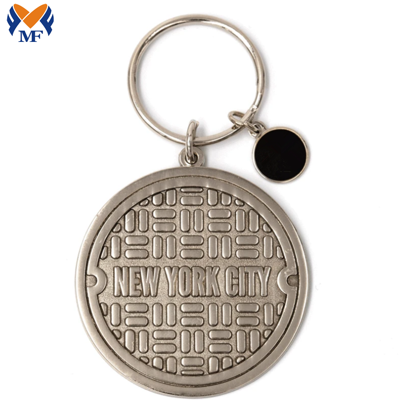 Metal Sewer Keychain