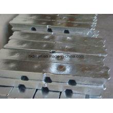 Lingote de zinc SHG puro de alta pureza 99.995%