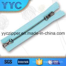 # 5 Black Nickel Metal Zipper with Two Side Sliders