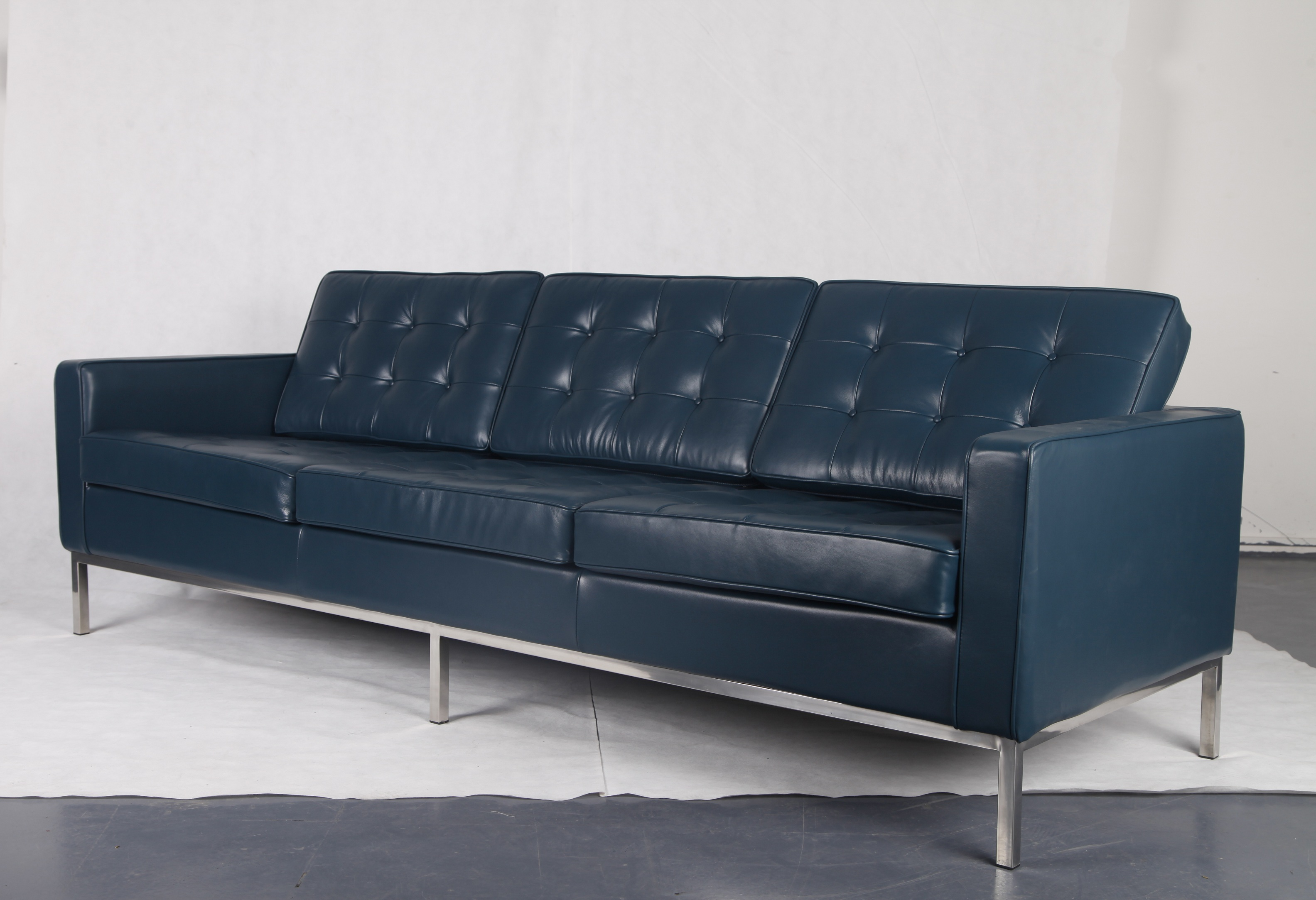 DARK BLUE ANILINE LEATHER