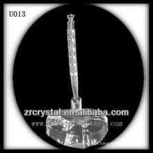 K9 Suporte de caneta de cristal com base em forma de coração