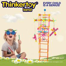 Пластмассовая игрушка ребенка образования игрушка цветные строительные блоки