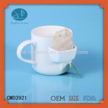 Mug avec poche de biscuit, tasse avec porte-sac de thé / tasse de poche, tasse de thé en céramique avec porte-thé