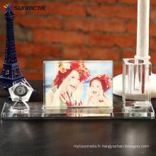 Photo de cristal sublimation BXP06 Stylo et horloge 280 * 100 * 75 mm