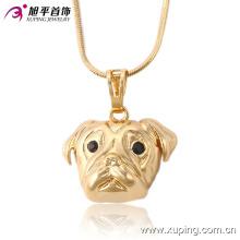 32523 Xuping trendy animal cabeza de perro colgante de latón joyería de imitación de oro de moda al por mayor