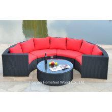 1 + 4 Pieces Wicker Corner Sofa Set (OT08)