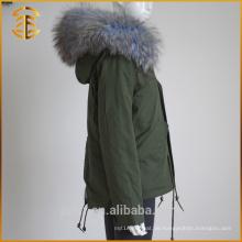 Fabrik Direktverkauf Dame Jacken Mantel Damen Reißverschluss Frauen Pelz Parka
