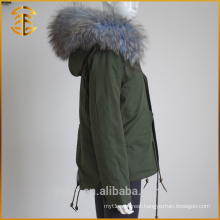 Factory Direct Sale Lady Jackets Coat Ladies Zipper Women Fur Parka