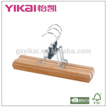 Bamboo stick trousers hangers with grooved slats
