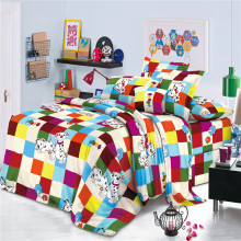 Colorful Polyester Disperse Print Spots Cartoon Bed Sheets