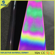 Regenbogen / schillerndes reflektierendes Ledergewebe