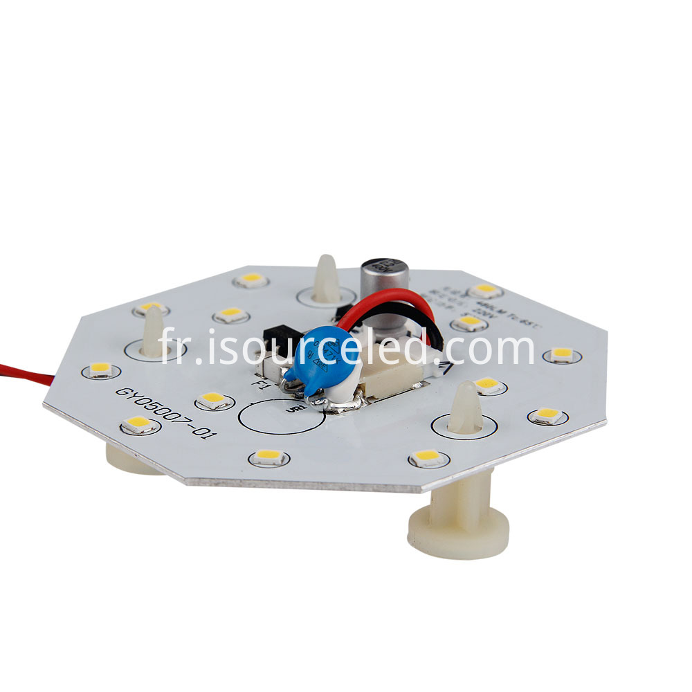 Side view of SMD 2835 Warm white 5W AC LED Module