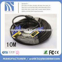 Câble VGA mâle-à-mâle Premium HD15 avec noyau ferrites pour ordinateur à écran LCD / LED