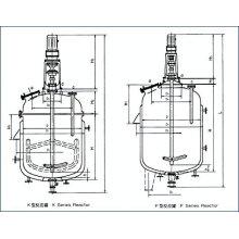 Tanque de fermentación / reactor agitado revestido