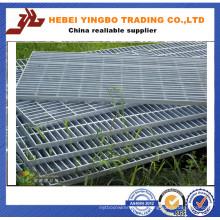 Vente en gros de grille à barres en acier galvanisé à chaud à haute qualité