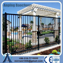 Anping Factory high quality small garden fence, steel garden fence, galvanized tubular steel fencing