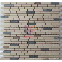 Strip Beige Marble Made Mosaic Tiles (CFS948)