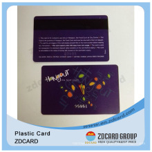 Barcode Plastic Membership Cards/Special Plastic Card/Spot UV Plastic Card