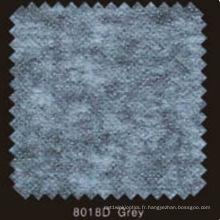 Doublure fusible non tissée double DOT de couleur grise avec poudre de PA (gris 8018D)