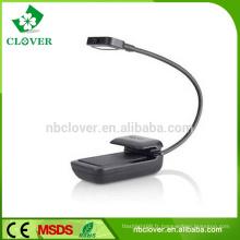 Matériau ABS Flexible Mini LED Light Book Light avec clip