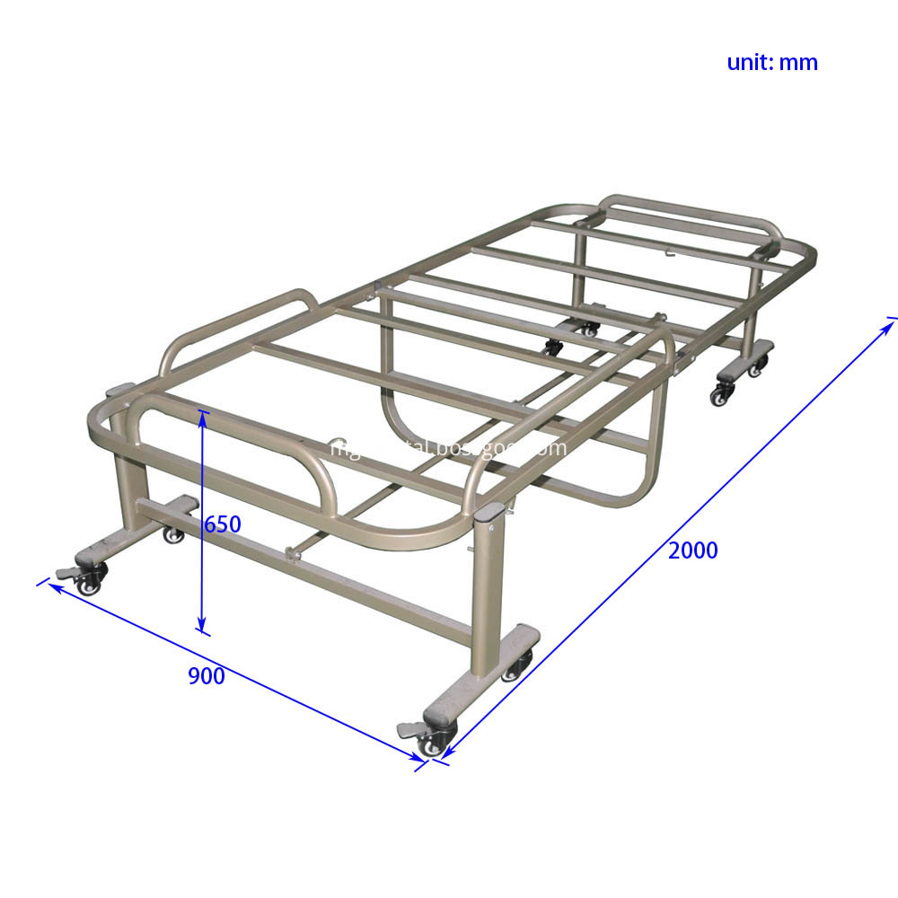 CFF0006 Steel Movable Folding Massage Bed Frame Size