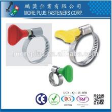 Fabriqué à Taiwan Strong Stainless Steel Schlauchklemmen Flexible Butterfly Type de poignée Type de serrage