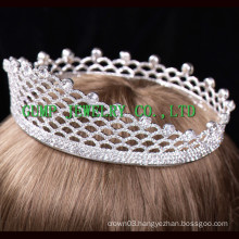2016 Wholesale Metal Crown Shaped Rhinestone Tiara