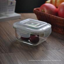 Quadratischer Nahrungsmittelspeicher-Glasschüssel-Behälter