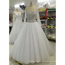 Nuevo Shinny Espumoso Perla / Perla / Rhinestone / vestidos de boda de cristal