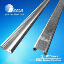 Unistrut channel size C channel cable tray