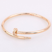 Populaire Bracelet unisexe or diamants clou en