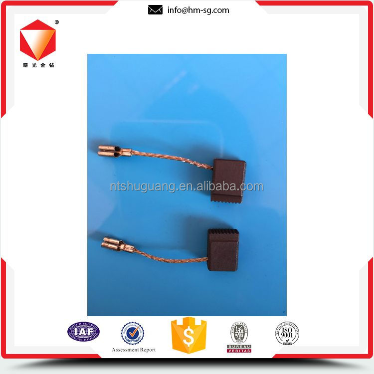 Durable different size carbon brushes for electric power tool