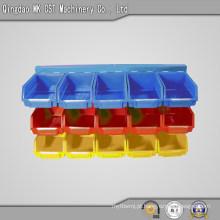 540-0001 caixa de armazenamento de plástico para compartilhar peças de máquinas, 3 prateleiras 15 caixas
