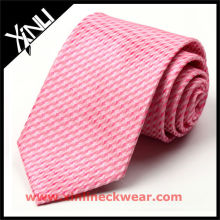 Corbata de seda rosa estampada de alta calidad