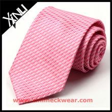 Gravata de seda rosa de impressão de alta qualidade