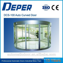 DPER commerical automatic glass curved sliding door
