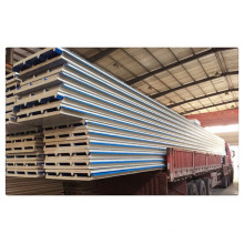 50mm 75mm Composite PU Roof Wall Sandwich Panel Building Material