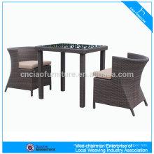 meubles de rotin en plein air à manger table et chaise (CF1203)