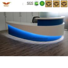 Popular Slippy Gleamy Office Reception Desk Salon Interior Contracting (HY-Q27)