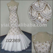 JJ2369 Full Beading Fish shape sweetheart mermaid wedding dress