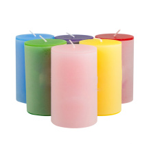 China Factory Cheap Price Color 100% Paraffin Wax Wedding Gifts Pillar Candle