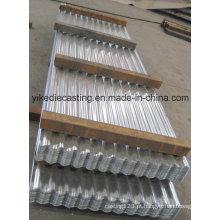 28 chapas de aço ondulado Galvalume calibre telhadura