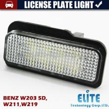 LED luz de matrícula para W203 5D, W211, W219, W204, W204 5D, W212, W216, W221