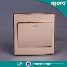 Igoto UK Standard Sample Style Golden Aussehen Wandschalter Verwenden für Zuhause