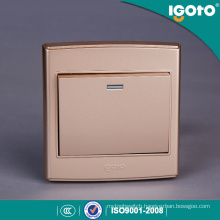 Igoto UK Standard Sample Style Golden Appearance Wall Switch Use for Home
