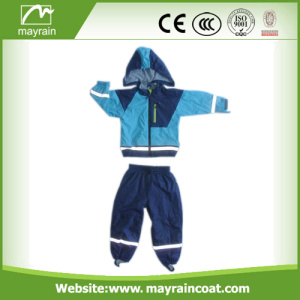 PU Children Blue Rainsuits