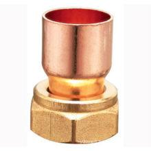 Ecrou évasé en cuivre, raccord en laiton J9202, raccord de tuyau en laiton et en cuivre, UPC, NSF SABS, approuvé WRAS