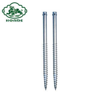 Galvanized Q235 Baja Ground Screw Pile Pole Anchor