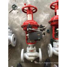 Vanne de contrôle de débit à membrane pneumatique de type globe (HTS)