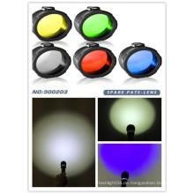 Mehrfarbig grün / rot / gelb / blau / weiß gefrostet C8 45mm Fackellinsenfilter